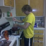 Josh Making Raspberry Mead